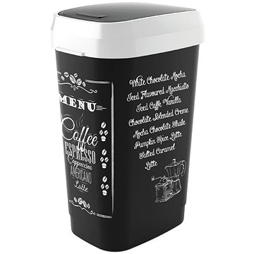 Odpadkový koš KIS Koš na odpad Dual Swing Bin Style Coffee Menu L 50l (80771002285)