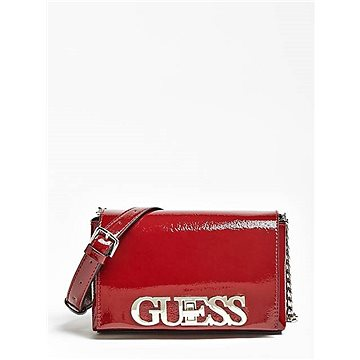 GUESS Uptown Chic Patent-Look Crossbody Merlot (190231296157)