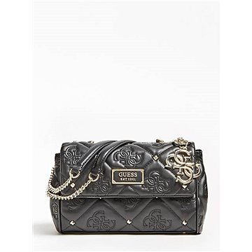 GUESS Shanina Quilted Logo Stud Crossbody Black (190231281078)