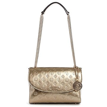 GUESS Peony Debossed Logo Crossbody Champagne (190231252979)