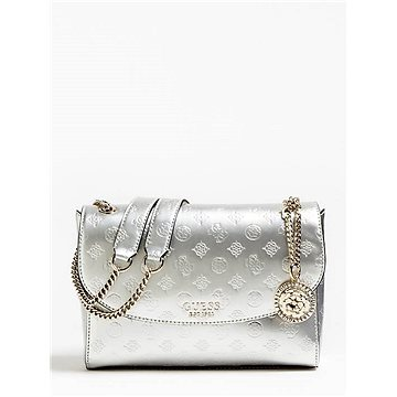GUESS Peony Debossed Logo Crossbody Silver (190231253006)