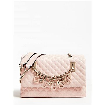 GUESS Passion Quilted-Look Crossbody Bag With Logo Chain (190231249153)