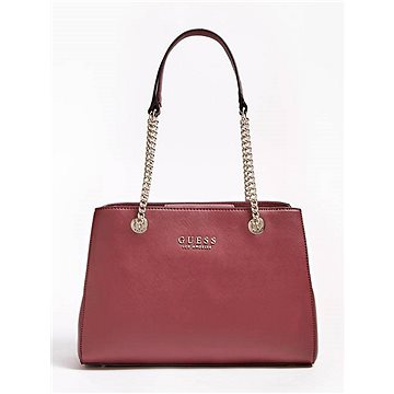 GUESS Robyn Saffiano-Look Small Shoulder Bag Red (190231249375)
