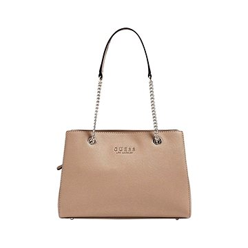 GUESS Robyn Saffiano-Look Small Shoulder Bag Tan (190231249382)