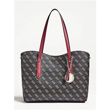 GUESS Aline Integrated Pochette Logo Print Shopper Brow Multi (190231283232)