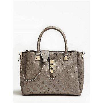 GUESS Peony Debossed Logo Large Handbag Taupe (190231251361)
