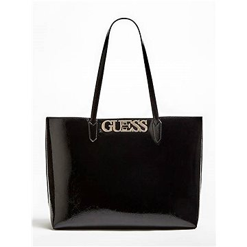 GUESS Uptown Chic Patent-Look Pochette Shopper Black (190231291275)