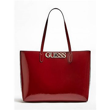 GUESS Uptown Chic Patent-Look Pochette Shopper Merlot (190231291282)
