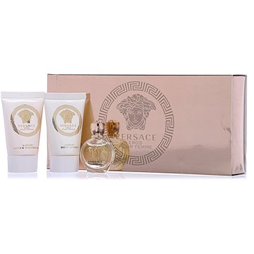 Versace Eros pour Femme EDP MINI 5 ml + sprchový gel 25 ml + tělové mléko 25 ml dárková sada