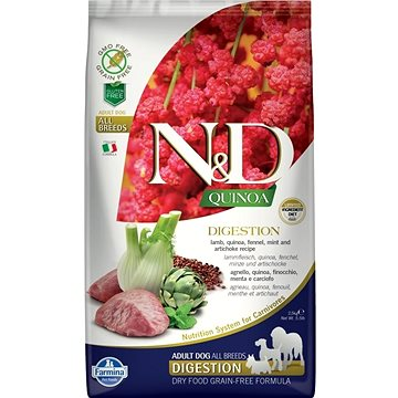 N&D grain free quinoa dog digestion lamb & fennel 7 kg (8010276035639)