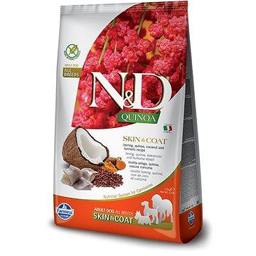 N&D grain free quinoa dog skin & coat herring & coconut 7 kg (8010276035653)