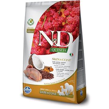 N&D grain free quinoa dog skin & coat quail & coconut 2,5 kg (8010276035622)