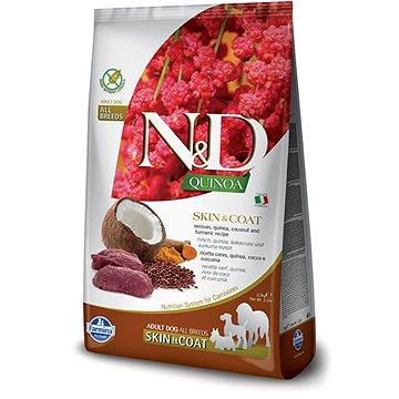 N&D grain free quinoa dog skin&coat venison & coconut 7 kg (8010276035677)
