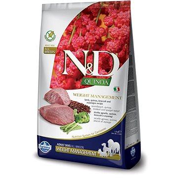 N&D grain free quinoa dog weight Mngmnt lamb & broccoli 7 kg (8010276035646)