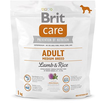 Brit Care adult medium breed lamb & rice 1 kg (8595602509942)