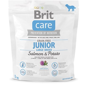 Brit Care grain-free junior large breed salmon & potato 1 kg (8595602510115)