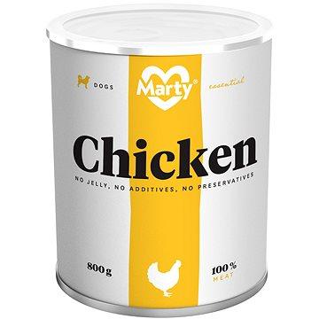 MARTY Essential pro psy 100% maso - kuřecí 800 g (8595174340004)