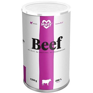 MARTY Essential pro psy 100% maso - hovězí 1200 g (8595174340073)