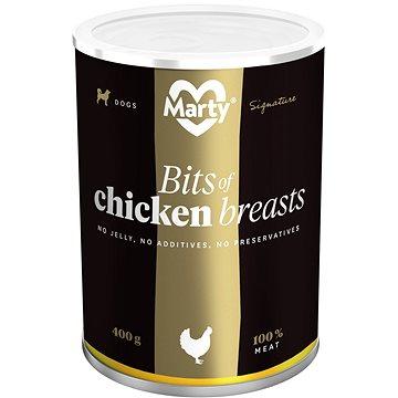 MARTY Signature 100% maso - kousky kuřecích prsou 400 g (8595174340462)