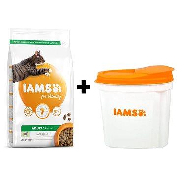 IAMS Cat Adult Lamb 2 kg + IAMS Cat nádoba na krmivo 2 kg