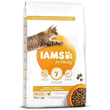 IAMS Cat Adult Hairball Chicken 10 kg (8710255127064)