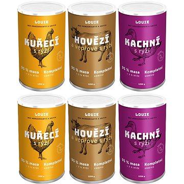 Louie kompletní krmivo - MIX produktů 5 + 1 zdarma (8595174388105)