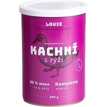 Louie Kompletní krmivo - kachní (95 %) s rýží (5 %) 400 g (8595174345580)