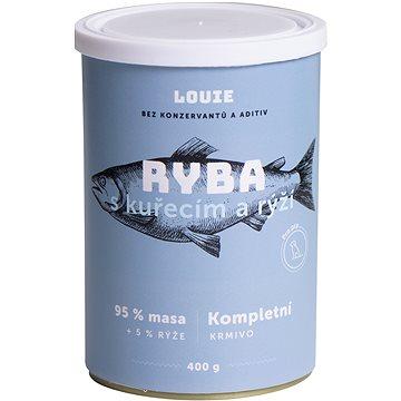 Louie Kompletní krmivo - ryba s kuřecím (95 %) s rýží (5 %) 400 g (8595174345528)