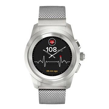 Chytré hodinky MyKronoz ZeTime Elite Brushed Silver Milan - 44 mm (KRONOZ-TI-EL-S-44)