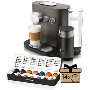 NESPRESSO DéLonghi Expert EN355.GAE + ZDARMA Voucher Nespresso voucher na 80 kapslí Grand Cru kávy