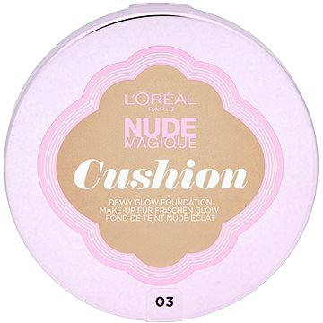Tekutý make-up LORÉAL Nude Magique Cushion 03 Vanilla 14,6g (3600523161522)