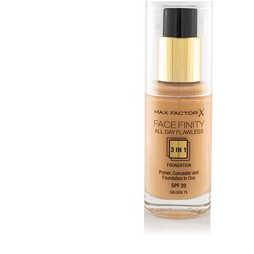 Tekutý make-up MAX FACTOR Facefinity 3 in 1 Foundation 75 Golden 30 ml (5410076971671)