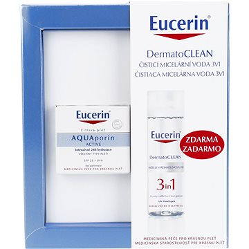 Dárková sada kosmetická EUCERIN Aquaporin Active UV Set (9005800271590) + ZDARMA Kondicionér REVLON Be Fabulous Hair Recovery Step 4 Keratin Conditioner 250 ml