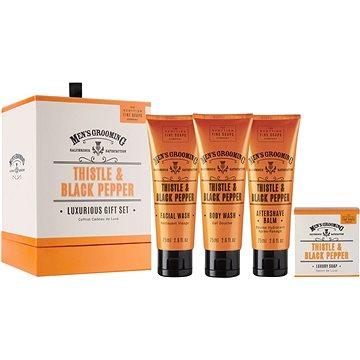 Dárková sada kosmetická SCOTTISH FINE SOAPS Thistle & Black Pepper Luxurious Set (5016365018074)