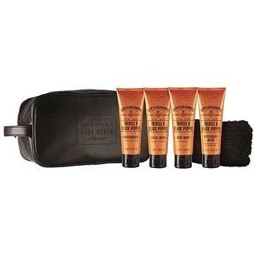Dárková sada kosmetická SCOTTISH FINE SOAPS Thistle & Black Pepper Travel Bag (5016365018081)