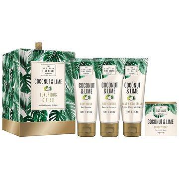 Dárková sada kosmetická SCOTTISH FINE SOAPS Coconut & Lime Luxurious Set (5016365042017) + ZDARMA Mýdlo SCOTTISH FINE SOAPS Mýdlo - Au Lait 25 g