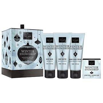 Dárková sada kosmetická SCOTTISH FINE SOAPS Winter Snow Drop Luxurious Gift Set (5016365042055) + ZDARMA Mýdlo SCOTTISH FINE SOAPS Mýdlo - Au Lait 25 g