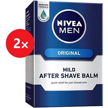 NIVEA Men After Shave Balm Mild 2× 100 ml