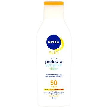 Mléko na opalování NIVEA SUN Mléko na opalování Sensitive SPF 50 200 ml (4005900121158)