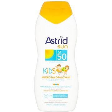 Mléko na opalování ASTRID SUN Dětské mléko na opalování SPF 50 200 ml (8592297000600) + ZDARMA Dárek Astrid mléko na opalování OF 10 100ml