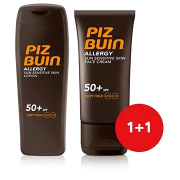 Sada PIZ BUIN Allergy Sun Sensitive Skin Lotion SPF50+ + Piz Buin Allergy Sun Sensitive Skin Face Care S (8595571910749)