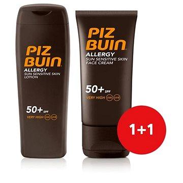Sada PIZ BUIN Allergy Sun Sensitive Skin Lotion SPF50+ + Piz Buin Allergy Sun Sensitive Skin Face Ca