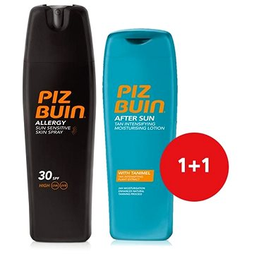 Sada PIZ BUIN Allergy Sun Sensitive Skin Spray SPF30 + Piz Buin After Sun Tan Intensifying Moisturising L (8594035938046)