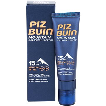 Krém na opalování PIZ BUIN Mountain Sun Cream+stick SPF15 20 ml (3574660674811)