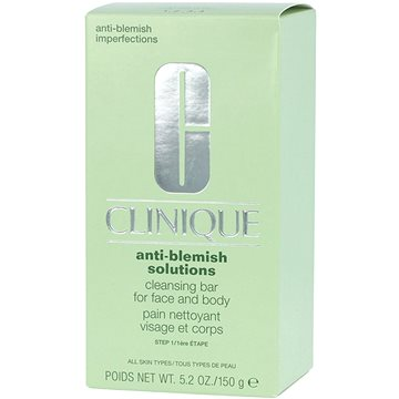 Tuhé mýdlo CLINIQUE Anti Blemish Solutions Cleansing Bar for Face and Body 150 g (020714307295)