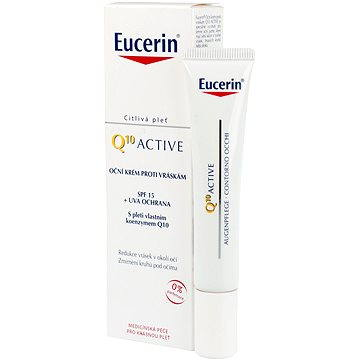 Oční krém EUCERIN Oční krém proti vráskám Q10 Active 15 ml (4005800634000) + ZDARMA Kondicionér REVLON Be Fabulous Hair Recovery Step 4 Keratin Conditioner 250 ml