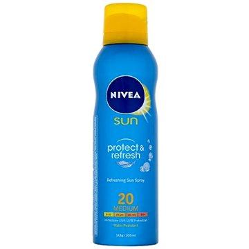 Sprej na opalování NIVEA Sun Protect and Refresh SPF20 200 ml (4005808262168) + ZDARMA Dárek NIVEA Multifunkční šátek sportovní