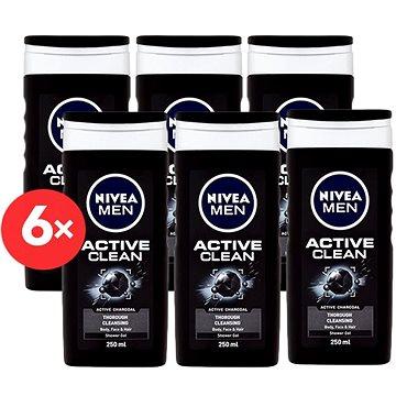 NIVEA Men Active Clean 6× 250 ml