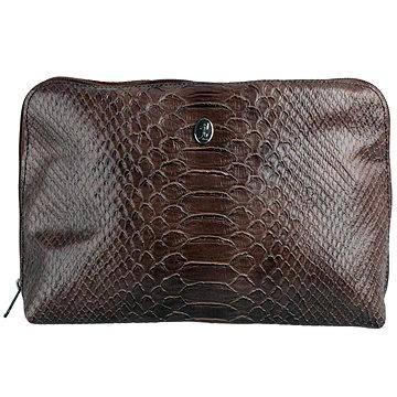 Kosmetická taška DUKAS Kosmetická taštička velikost L Tmavě hnědá (TT 200-115)