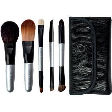 Sada kosmetických štětců ROYAL & LANGNICKEL Brush Essentials™ Travel Kit 5 pcs Silver (#BTRAVEL-SL)